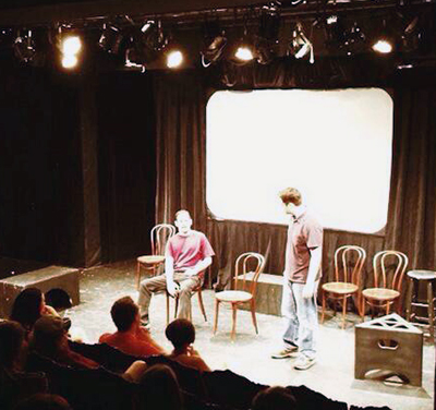 Matt&, improv comedy with an audience member, in the Philly Fringe Festival