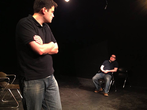 Matt& Gustavo, improv comedy with an audience member