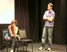 Matt& Jaclyn improv comedy in the Philly Fringe Festival
