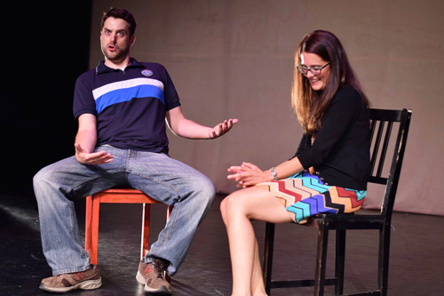 Matt& Julie improv comedy in the 2015 Baltimore Improv Festival