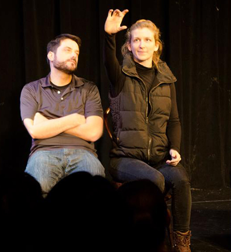 Matt& Kristen, improv comedy with an audience member