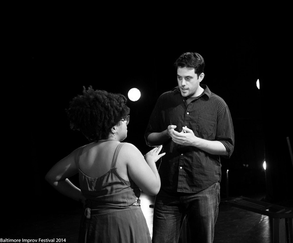 Matt& Deena improv comedy in the 2014 Baltimore Improv Festival