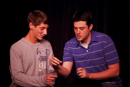 Matt& Elliot, improv comedy with an audience member at Duofest