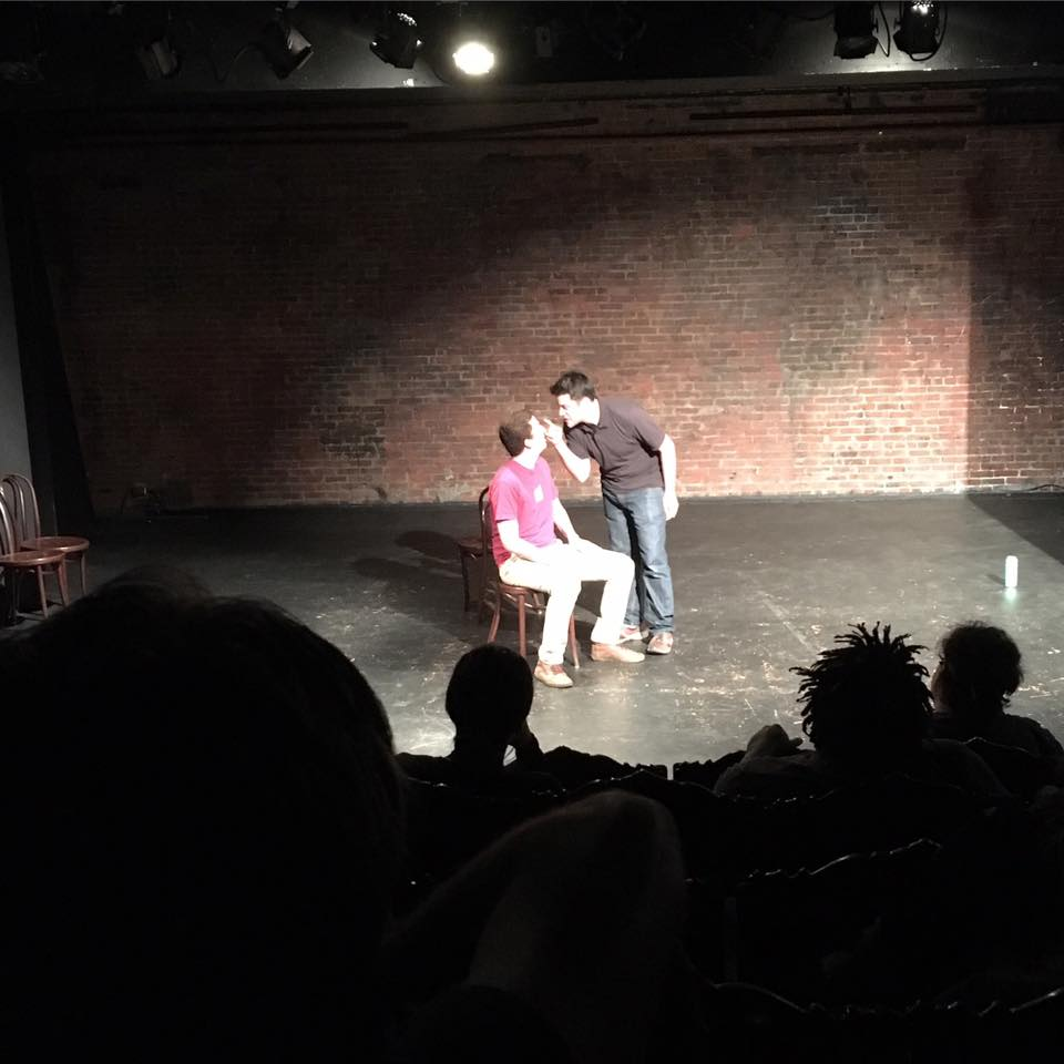 Matt&, improv comedy with an audience member, at Philly Improv Theater