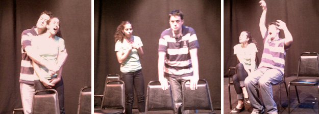 Matt& Pammi improv comedy in the 2010 Philly Fringe Festival