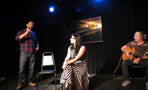 Matt& Rachel, improv comedy with an audience member