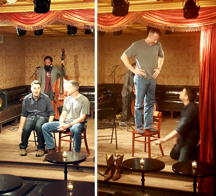 Matt& Rick, improv comedy with an audience member