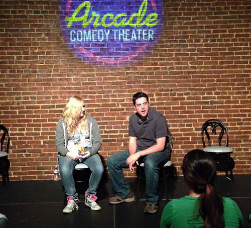 Matt& Shai, improv comedy with an audience member